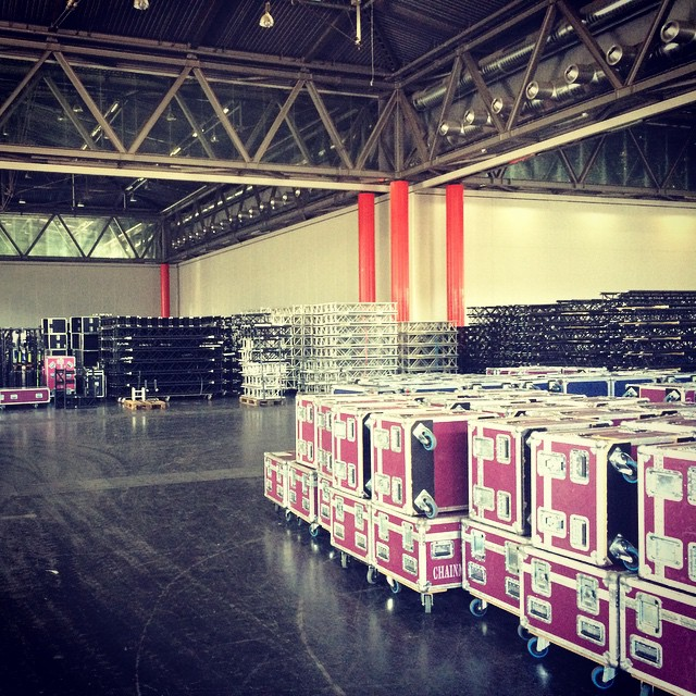 Skoda World Dealer Conference Wien- 14 Trailer- ca. 1900 Lampen- ca. 18.000 qm Rigg- ca. 3 Megawatt- Mit Cologne Hunters  Licht & Ton Service